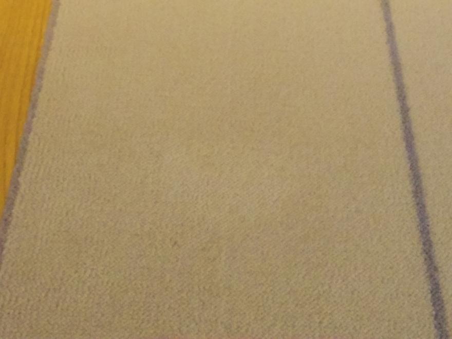 こぼしたしょう油も乾いた布ですぐに吸い出せばきれいになるカーペット