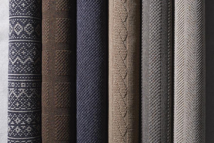 ウール素材のラグ「フィッシャーマンズコート」の商品見本