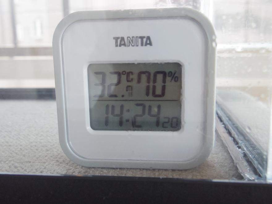 湿度計70%の表示