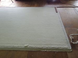 樹脂を乾燥させる